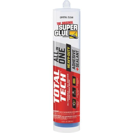 Super Glue Total Tech 9.8 Oz. Clear Construction Adhesive & Sealant