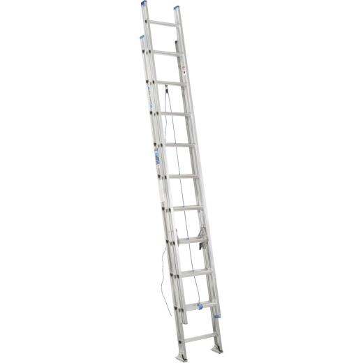 Werner 16 Ft. Aluminum Extension Ladder with 250 Lb. Load Capacity Type I Duty Rating