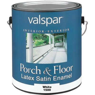 Valspar 1 Gal. White Self Priming Latex Satin Porch & Floor Enamel