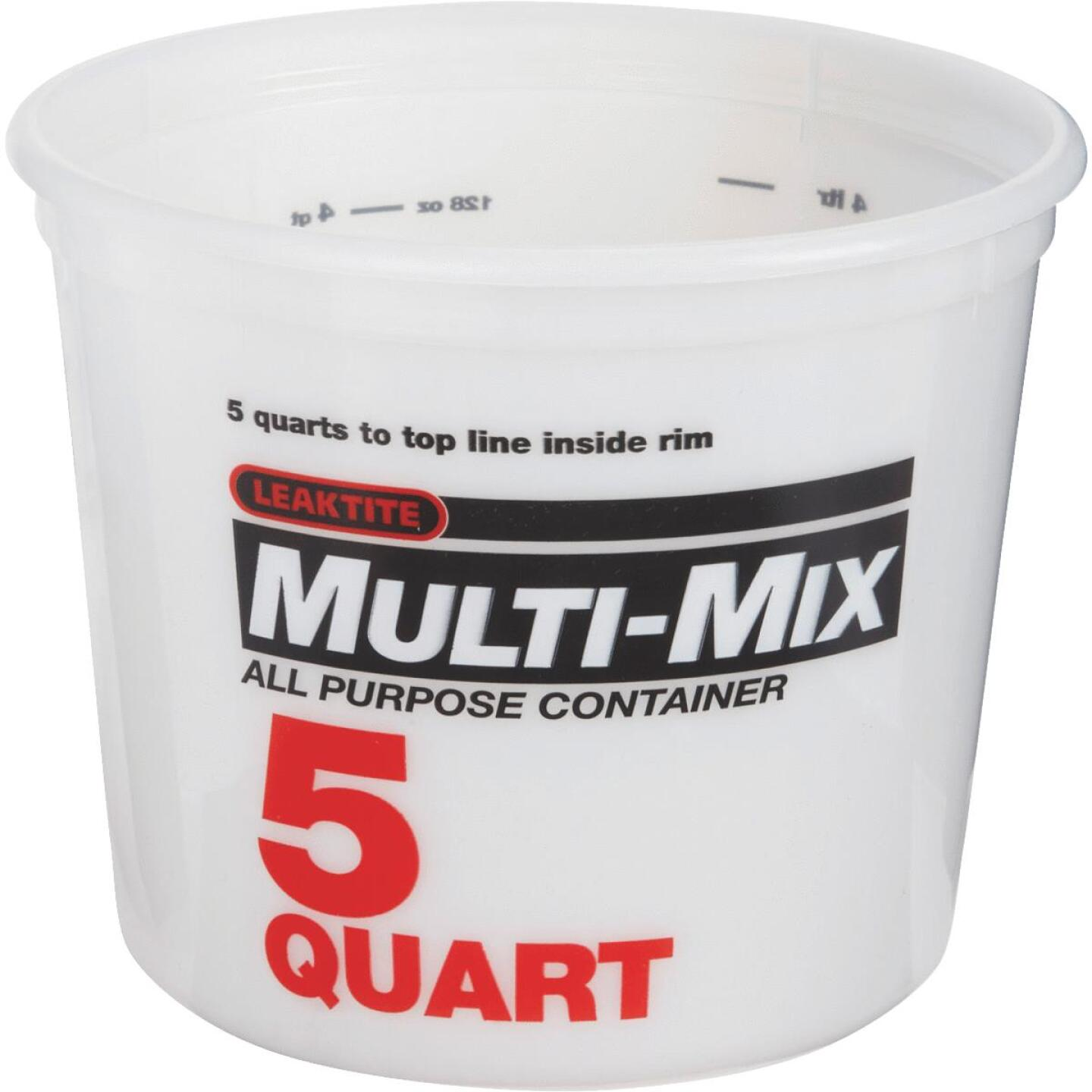 Leaktite 5 Qt. Multi-Mix All Purpose Mixing And Storage Container Image 1