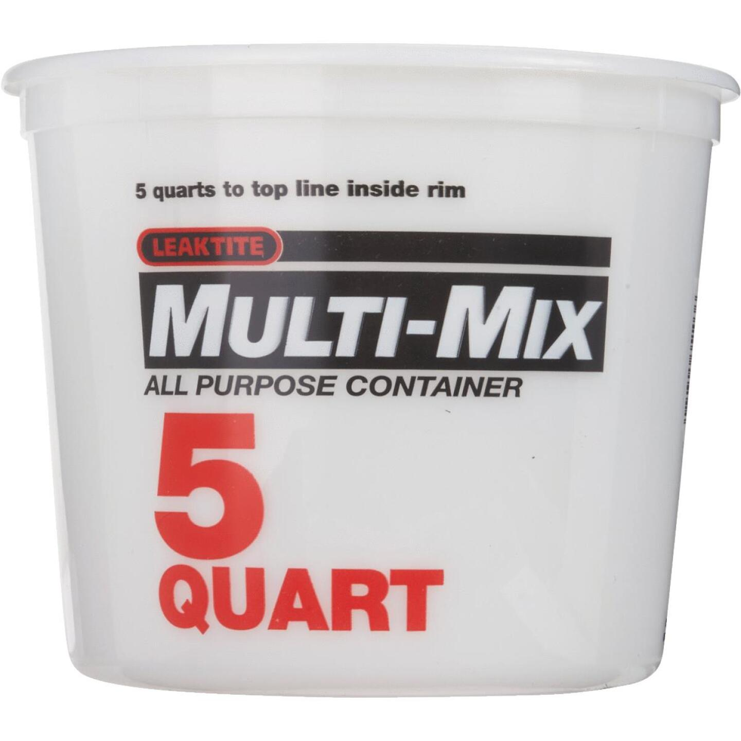 Leaktite 5 Qt. Multi-Mix All Purpose Mixing And Storage Container Image 2
