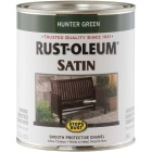 Rust-Oleum Stops Rust Oil Based Satin Protective Rust Control Enamel, Hunter Green, 1 Qt. Image 1