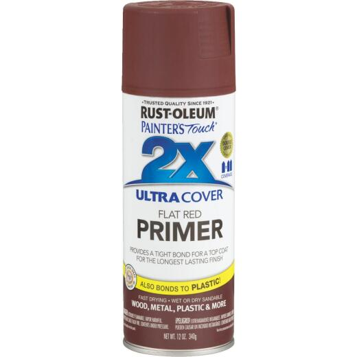 Rustoleum Painter's Touch 2X Ultra Cover Flat Red Spray Paint Primer