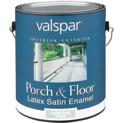 Valspar 1 Gal. Light Gray Self Priming Latex Satin Porch & Floor Enamel