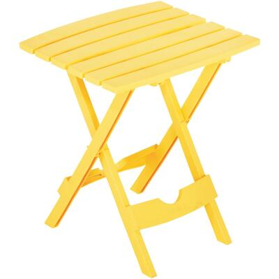 Adams Quik-Fold Yellow 15 In. x 17.5 In. Rectangle Resin Folding Side Table