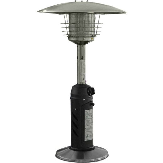 Hiland 11,000 BTU Black Stainless Steel Tabletop Patio Heater