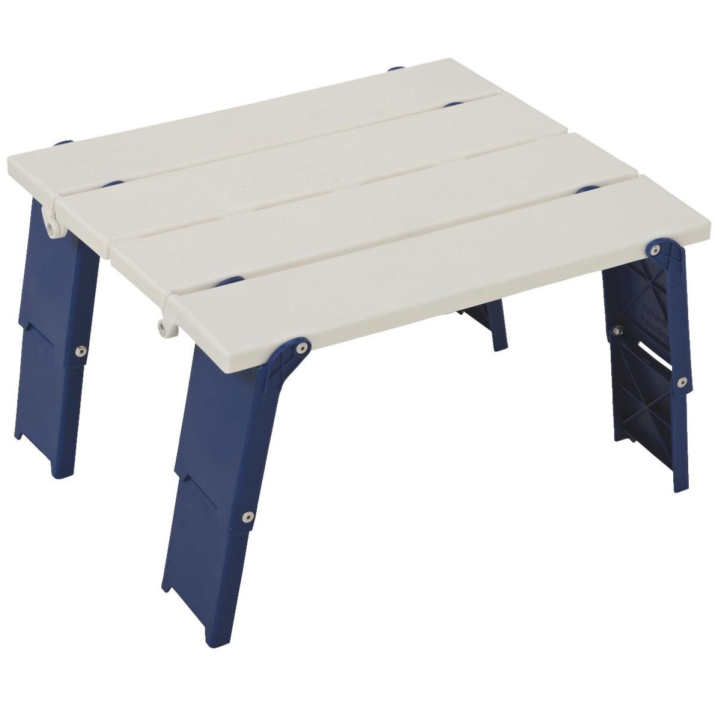 Rio Personal White 14 In. W. x 16 In. L. Rectangle Plastic Folding Side Table Image 2