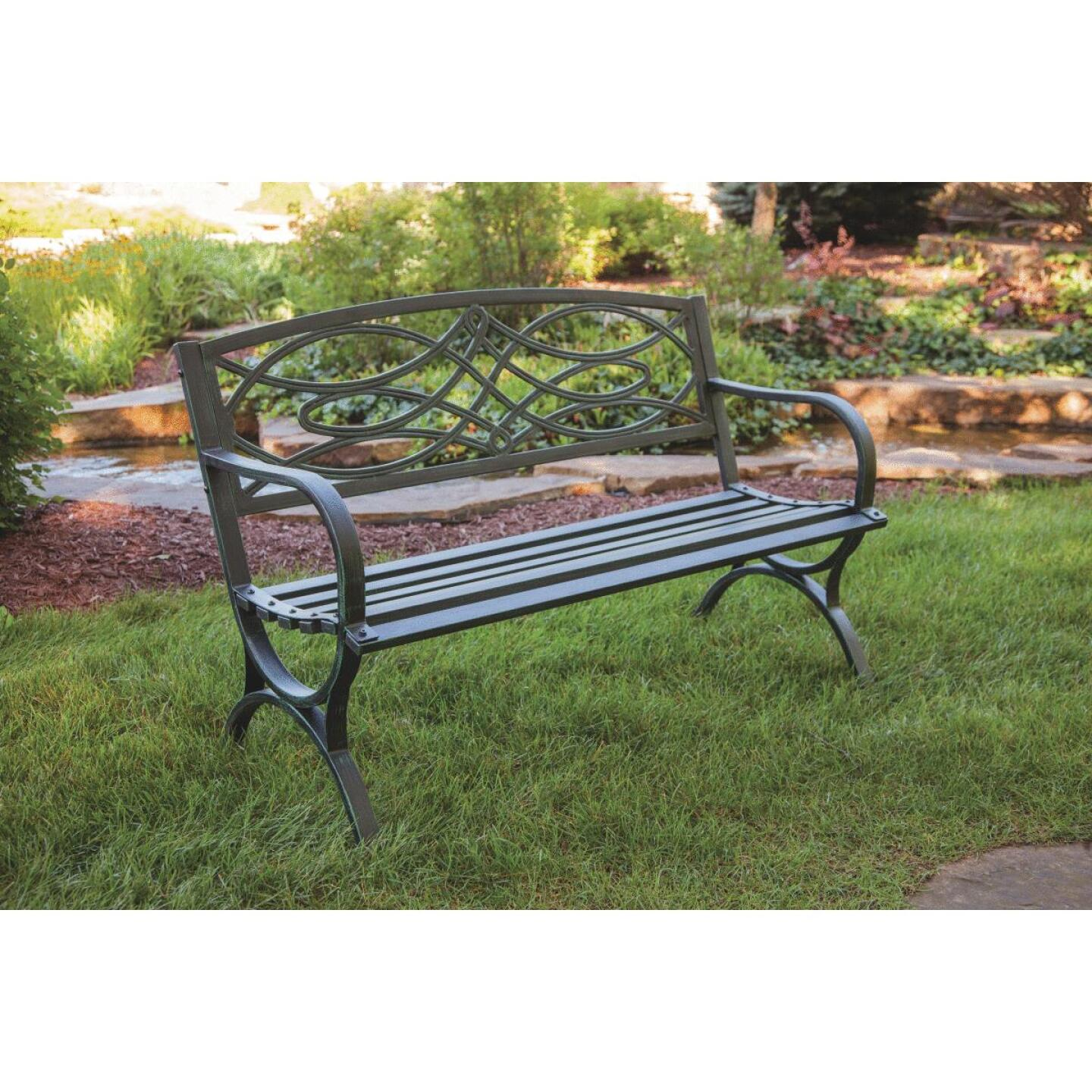 Outdoor Expressions Steel Scroll Bench Image 5
