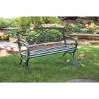 Outdoor Expressions Steel Scroll Bench Image 6