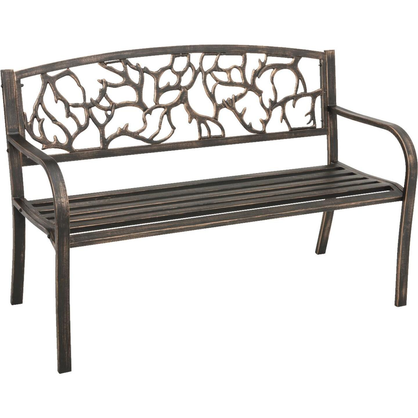 Outdoor Expressions Steel Branch Bench Image 1
