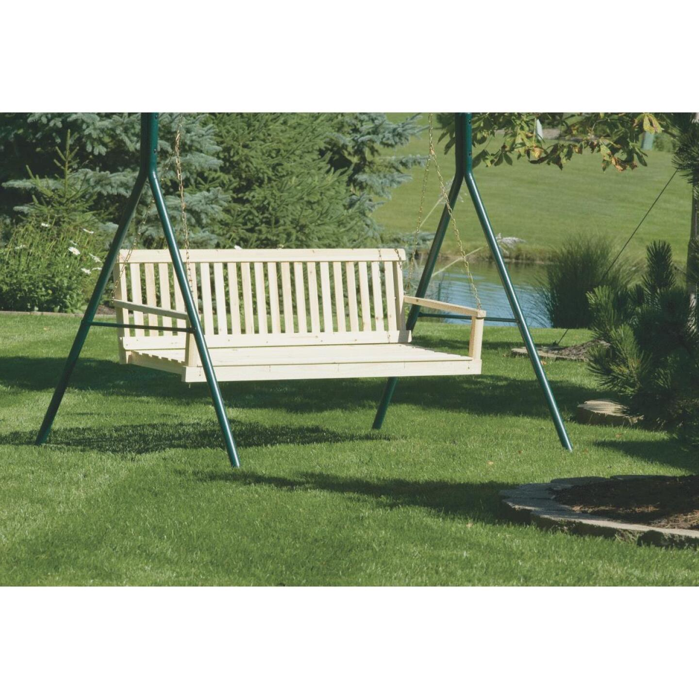 Jack Post Jennings 60 In. W. x 17.5 In. H. x 21-3/4 In. D. Natural Cypress Porch Swing Image 2