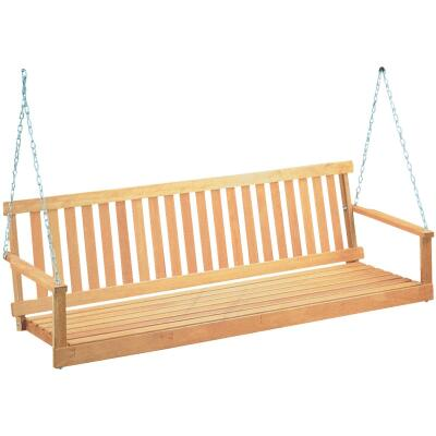 Jack Post Jennings 48 In. W. x 17.5 In. H. x 21-3/4 In. D. Natural Cypress Porch Swing