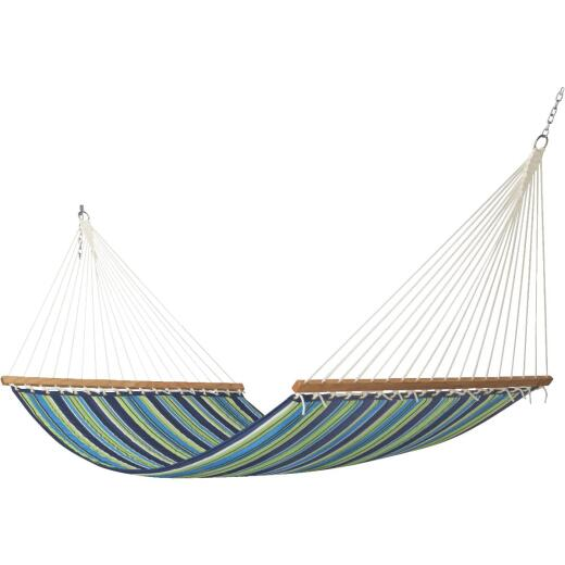 Castaway Duracord Blue & Green Striped Quilted Hammock