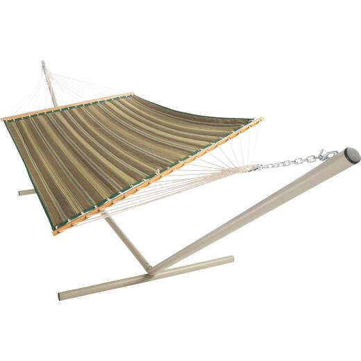 Castaway Duracord Tan Striped Quilted Hammock