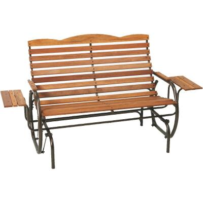 Jack Post Country Garden Bronze Hi-Back Glider with Tray