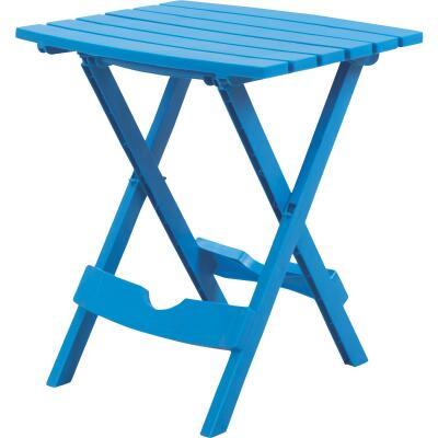 Adams Quik-Fold Blue 15 In. x 17.5 In. Rectangle Resin Folding Side Table