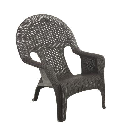 Adams Earth Brown Woven Poly Lounge Chair
