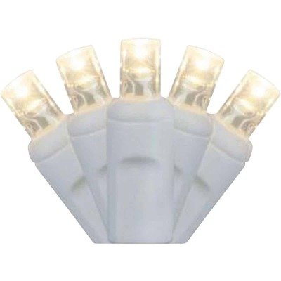 J Hofert Pure White 50-Bulb M5 LED Light Set with White Wire