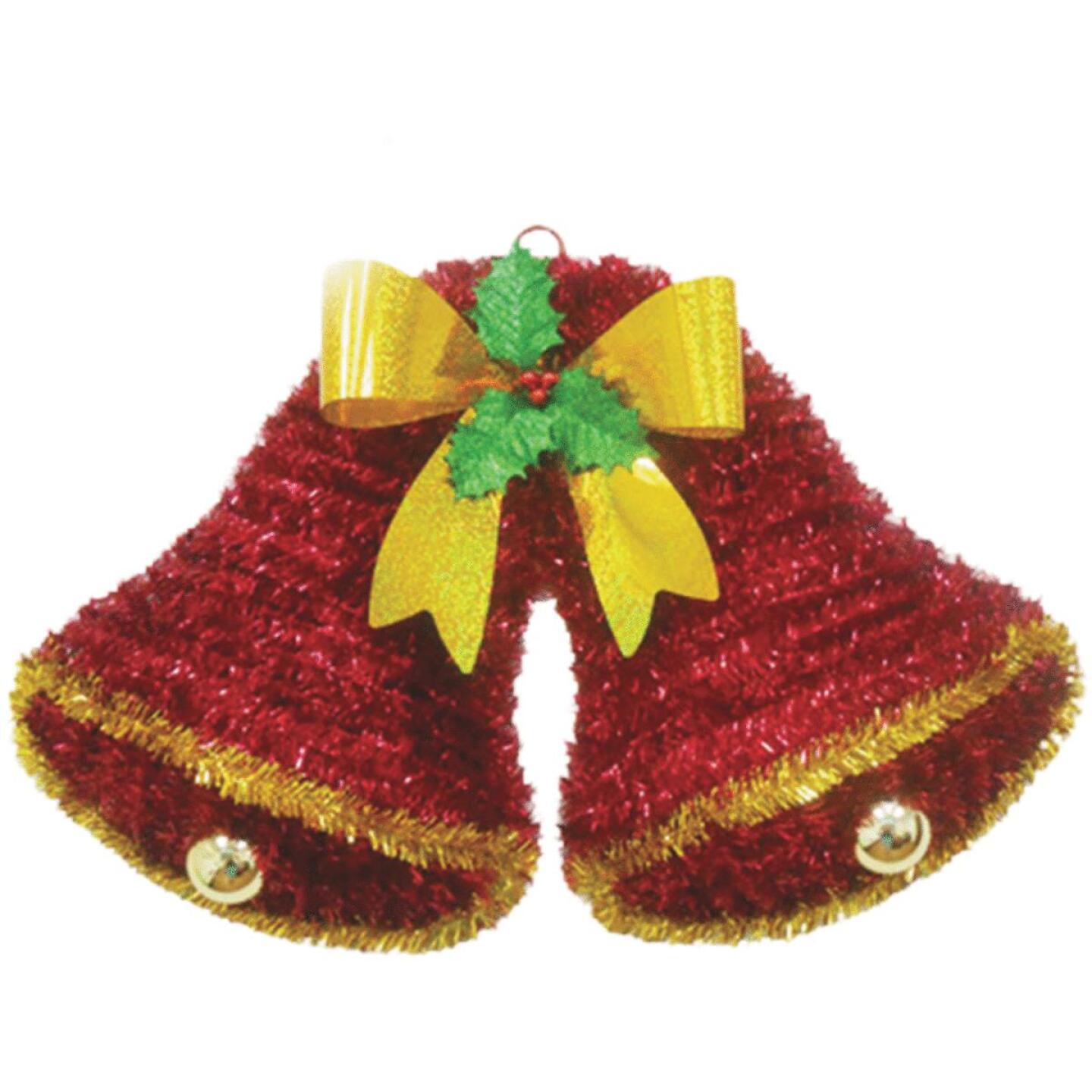 Youngcraft 20 In. Tinsel Double Bell Holiday Decoration Image 1