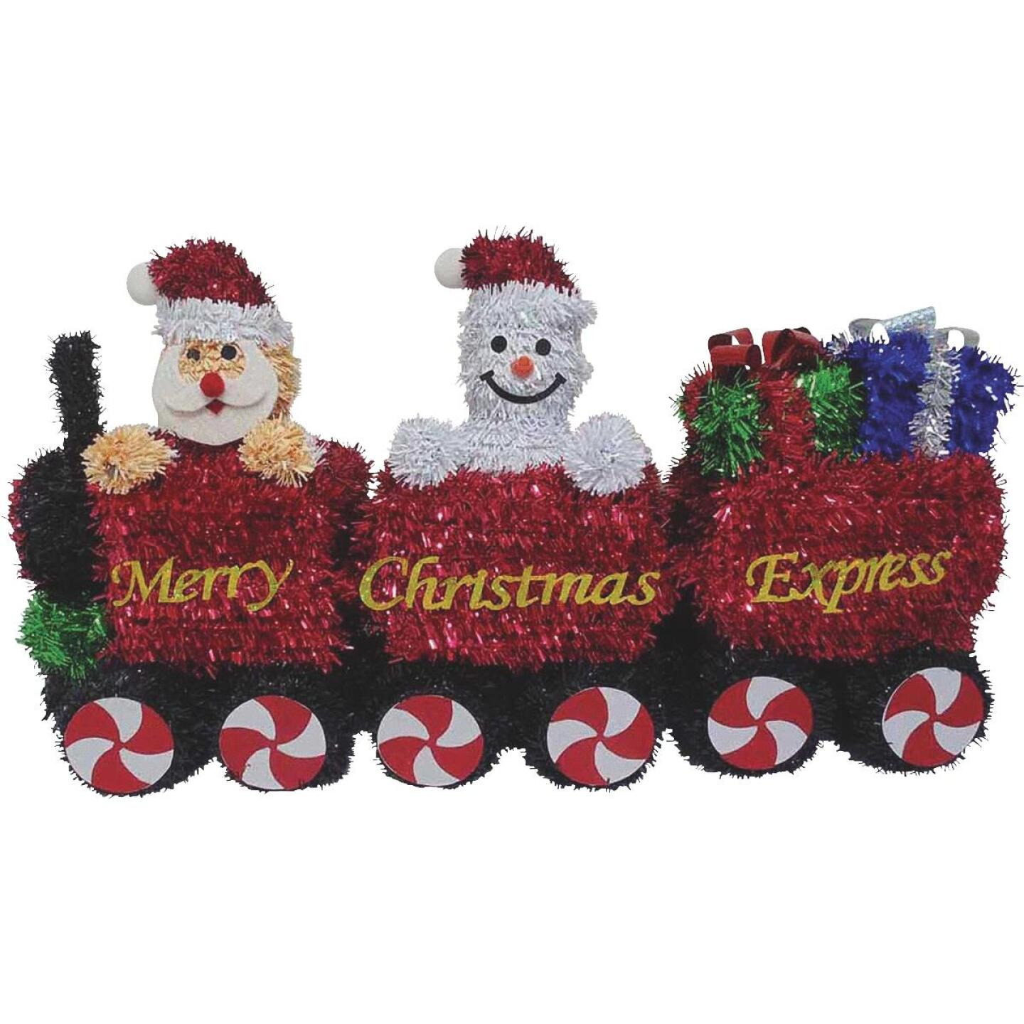 F C Young 15 In. Tinsel Christmas Train Holiday Decoration Image 1
