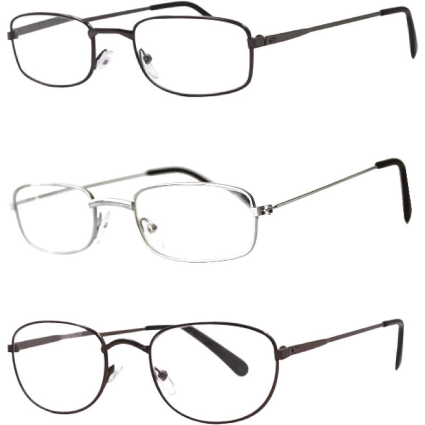 Axiom International 1.75 Diopter Metal Frame Reading Glasses Image 1